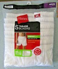 "Men's Hanes 5 Tagless Size Small 28-30"" White Boxer Shorts!"