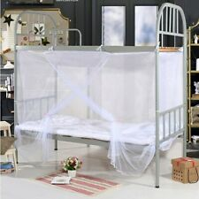 4ft 4 Corner Full Cover Bed Canopy Mosquito Net Twin Size Netting Hiking Camping