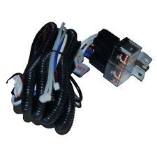 "7"" Headlight Ceramic H4 2 Headlamp Relay Light Bulb Socket Plugs Wiring Harness"