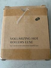 """T3 - Volumizing 1"""" Hot Rollers LUXE (2 ct.) / with 2 butterfly clips NEW"""