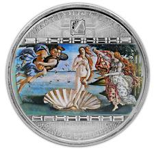 Cook Islands 2008 Masterpieces of Art Sandro Botticelli Birth Venus Silver Coin