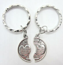 Mizpah Medal Coin Key Ring Set For Two