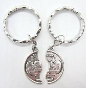 Mizpah Medal Coin Key Ring Set For Two