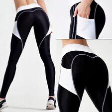 Women Push Up Hip Sports Pants Yoga Fitness Leggings Running Stretch Trousers US