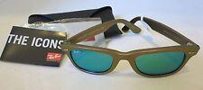 Ray-Ban WAYFARER Sunglasses Cosmo RB2140 6110/19 Metallic PINK Green Mirrored
