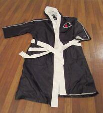 Champion Boxing Robe Men's Size Large Black Script Piping Reflective Logo NWT
