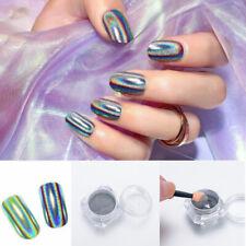Glitter Mirror Effect Nail Art Chrome Pigment Holographic Laser Powder Decor DIY