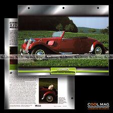#083.05 ★ CITROËN 11 CV LARGE ROADSTER 1937 ★ Traction Avant Fiche Auto Car card