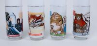 Set of 4 Vintage 1983 Star Wars Return of the Jedi ROTJ Burger King Coke Glasses