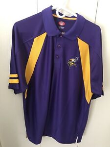NFL VF Imagewear Minnesota Vikings Embroidered Polo Shirt Size L