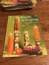Vintage Candle Crafting For Beginners Instruction Craft Booklet- NOS
