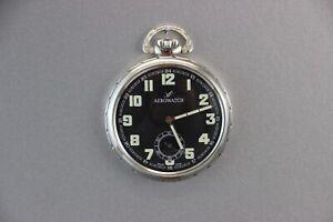 Aerowatch Schweizer Taschenuhr 1952 Handaufzugwerk Unitas 6497-1
