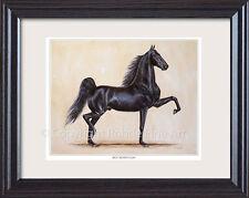 New listing Rex Mcdonald - famous American Saddlebred Horse framed equine Art painting