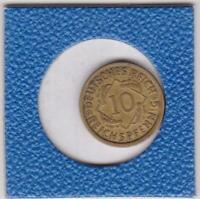 10 Pfennig 1924 G Deutsches Reich German Empire