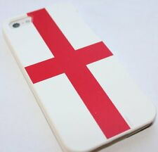 iPhone SE 5S SNAP ON BACK PROTECTOR CASE COVER WHITE RED ENGLAND PATRIOTIC FLAG