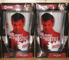 Set of 2 Dexter Pint Glasses Standard 16oz Pint Glasses