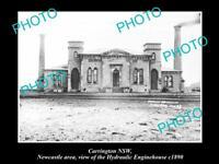 OLD LARGE HISTORICAL PHOTO OF CARRINGTON NSW, HYDRAULIC ENGINE HOUSE c1900