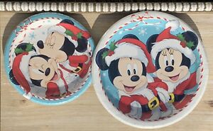 Mickey Minnie Mouse Disney Christmas Holiday Party Paper Plates For 8 Guests