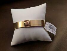 Michael Kors MKJ5801710 Womens Square Crystal Brushed Gold tone Bangle Bracelet