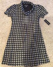 Jessica Howard Gray & Black Houndstooth Printed Dress Size 6 Nwt
