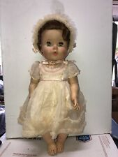 "Vintage 21.5"" Amer Char Doll 1950's Soft Rubber Doll Rooted Hair Sleep Eyes"