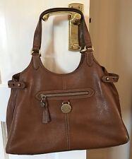 Vintage MULBERRY Tan Somerset Tote Oak pebble Leather Bag