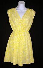 Kardashian Kollection Yellow Leopard Spotted Tunic Mini Dress XS