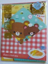 Q-lia Japan Open Sesame Bears Hotcakes Kawaii Letter Set stationery Penpals