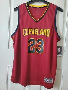 NBA Fanatics 2017 Lebron James Cleveland Cavs  authentic Road Jersey Size L NWT
