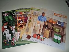 LOT OF ANNIE ATTIC FASHION DOLL PLASTIC~CANVAS LEAFLET GARDEN TOOLS & FURNITURE