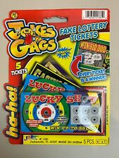 J & G Fake Lottery Tickets - 1 Pack (3) Available
