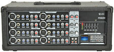 QTX PH2800 200W Powered 8 Channel Mixer Amp + FX + USB SD Mp3 Player + IR Remote