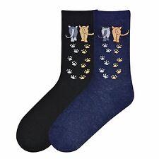 """Cat Socks """"Cat Walk""""  Black Socks * One Size Fits Most"""
