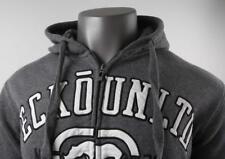 ECKO UNLTD. RHINO Embroidered Hoodie Sweatshirt Gray Men's Medium Full Zip