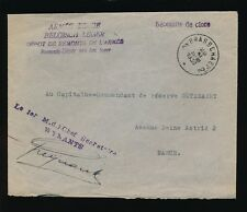 BELGIUM 1936 MILITARY MAIL DEPOT DE REMONTE ARMY CAVALRY HORSES...BRASSCHAET