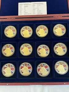 12 x 1939-2014 75th Anniversary of WWII Proof Medal collection Cased