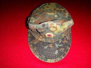 Esercito Tedesco Mimetico Servizio Cappello con Originale Label Bamberger Mutzen