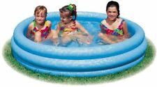 """NEW Intex Crystal Blue Kids Outdoor Inflatable 58"""" Swimming Pool 58426EP"""