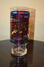 """SCHLITZ Stain Glass BEER 6.5"""" GLASS VTG Style Stained Glass"""