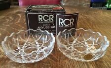Lead Crystal Glass Snack Bowls/ Lidded Dish-RCR Anyuse 200- Boxed