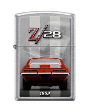 """Zippo """"Chevy Camaro Z/28-1969"""" Street Chrome Finish Lighter, Full Size,  4152"""