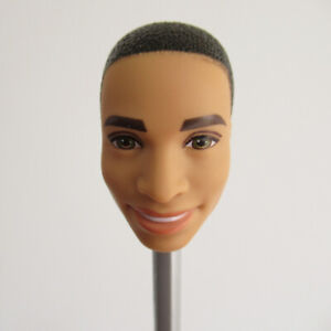 Head for 1/6 Doll Africa Dark Skin DIY Doll Body Part