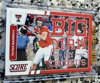PATRICK MAHOMES II 2017 Score RED SP Big Man #1 Draft Pick Rookie Card RC Chiefs