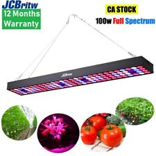 JCBritw LED Grow Light 100W Hanging Growing Lamp Full Spectrum for Indoor Plants