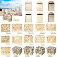 Wooden Wedding Card Post Box Rustic Royal Mailbox DIY Ornament Party Sup #3YE