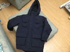 Boys M&S  Navy Coat Size:  Age 8-9Years