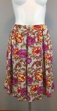 NWOT LuLaRoe Gray Madison Floral Printed Skirt Women's Size Medium