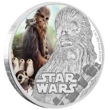 Niue - 2 Dollar 2017 - The Last Jedi - Chewbacca - Star Wars 1 Oz Silber PP