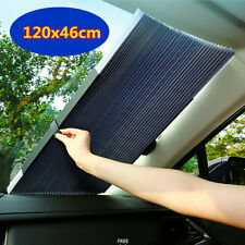 120x46cm Car Retractable Curtain UV Protection Front Windshield Sun Visor Shade