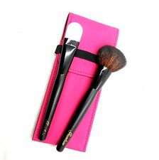 GUERLAIN POWDER & FOUNDATION BRUSHES WITH PINK POUCH NEW(T)